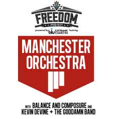 Freedom Project Featuring Manchester Orchestra presented by blu eCigs