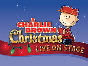 A CHARLIE BROWN CHRISTMAS LIVE! show art