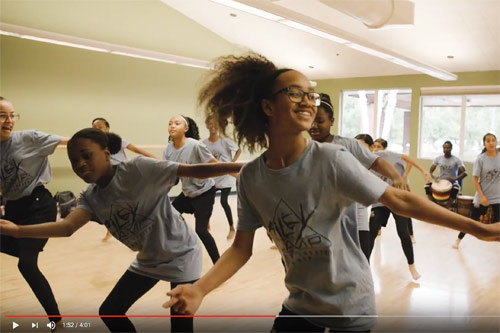 image of students dancing at AileyCamp