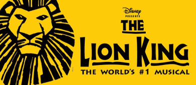 Disney's THE LION KING logo with a lion face