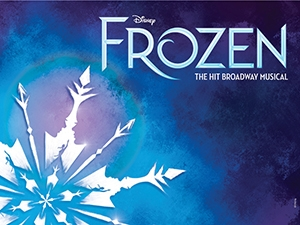 Disney's FROZEN logo blue with snowflake