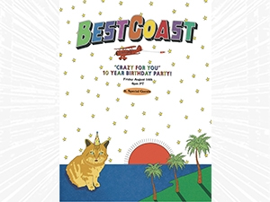 Best Coast poster image with cat and sunset