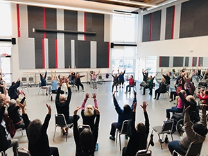 Dance for PD class in session