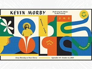 Kevin Morby show flier by Robbie Simon