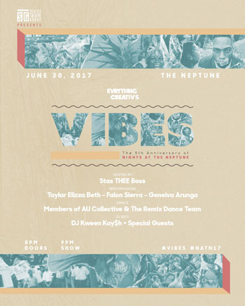 EVRYTHNG CREATIV'S VIBES: THE 5th ANNIVERSARY OF NIGHTS AT THE NEPTUNE