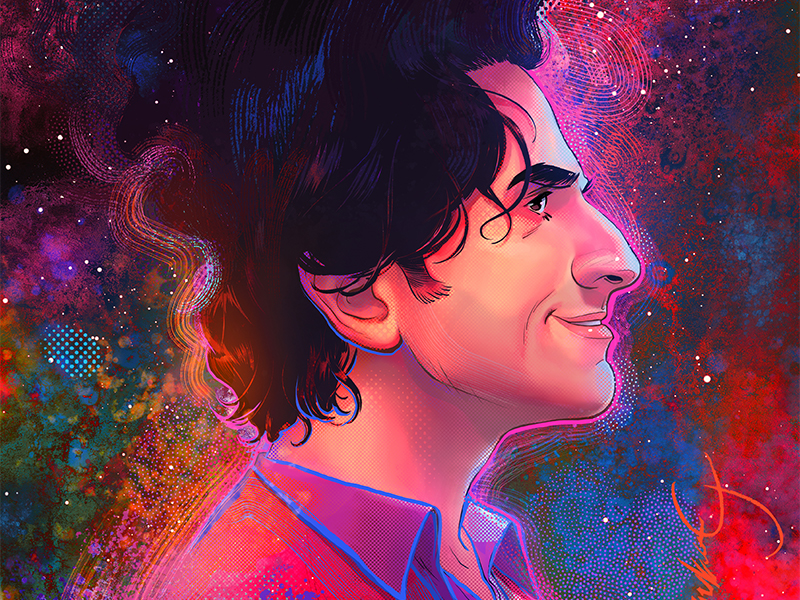 Illustration of Gary Gulman in side profile