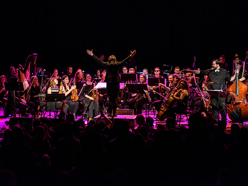 Seattle Rock Orchestra on stage
