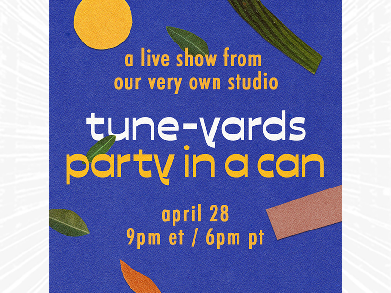 Tune-Yards Party In A Can art