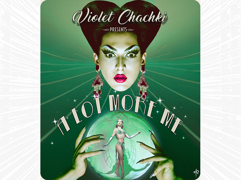 Violet Chachki presents A Lot More Me - with Violet looking into a crystal ball