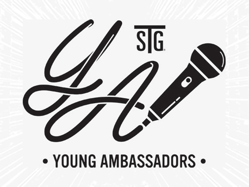 STG Young Ambassadors logo with a microphone
