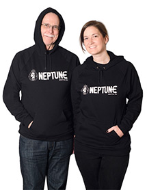 Man and woman wearing Neptune Unisex Pullover Hoodie - Front View
