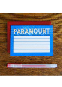 Paramount Theatre Marquee Box Set with red gel pen