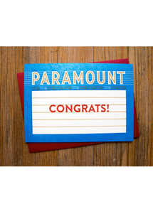 Paramount Theatre Marquee Message Card - Congrats!