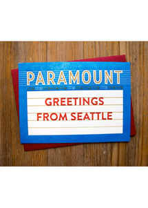 Paramount Theatre Marquee Message Card - Greetings from Seattle
