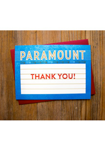Paramount Theatre Marquee Message Card - Thank You!