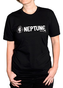 Woman wearing Neptune Women's T-Shirt - Front View